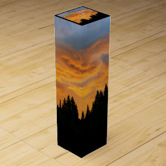 Golden Clouds Sunrise Happy Anniversary Wine Boxes