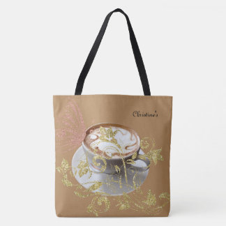 Golden Cocoa Large Tote Bag