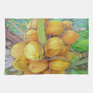 Golden Coconuts Kitchen Towel