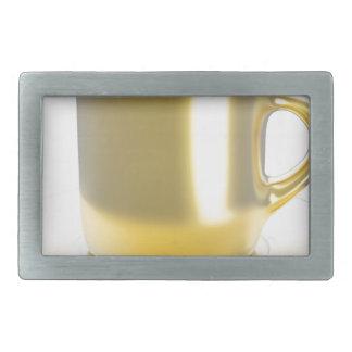 Golden coffee cup belt buckle