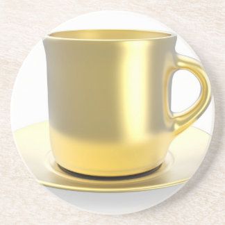 Golden coffee cup coaster