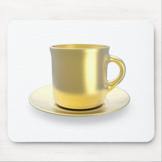 Golden coffee cup mouse pad