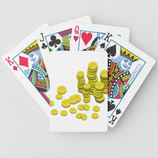 Golden Coins Bicycle Playing Cards