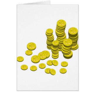 Golden Coins Card