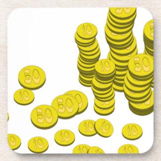 Golden Coins Coaster