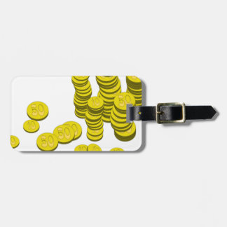Golden Coins Luggage Tag