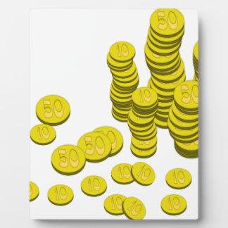 Golden Coins Plaque