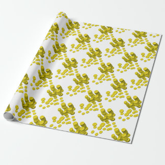 Golden Coins Wrapping Paper