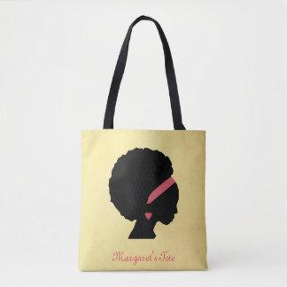 Golden color design Afro hair Tote Bag