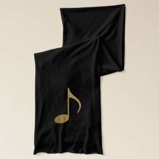 golden color musical note scarf