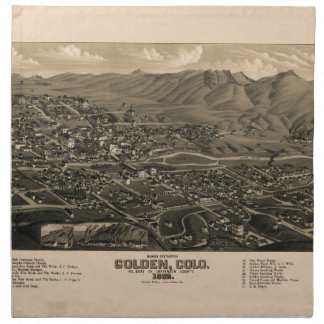 Golden Colorado 1882 Napkin