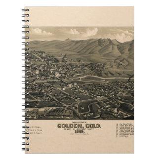 Golden Colorado 1882 Notebook