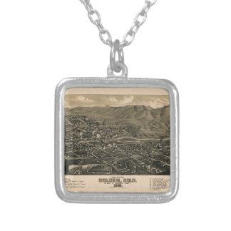 Golden Colorado 1882 Silver Plated Necklace