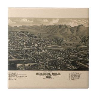 Golden Colorado 1882 Tile