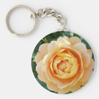 Golden colored rose keychain