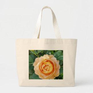 Golden colored rose large tote bag