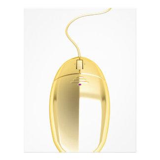 Golden computer mouse letterhead