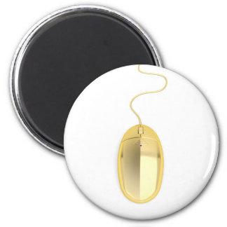Golden computer mouse magnet