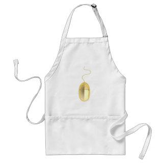 Golden computer mouse standard apron