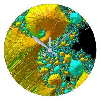 Golden Cone Clock Design