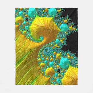 Golden Cone Fleece Blanket Bedroom Design