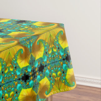Golden Cone Tablecloth Dining Room Design