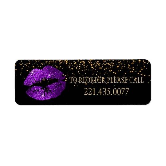 Golden Confetti & Purple Lips 2 - Reorder