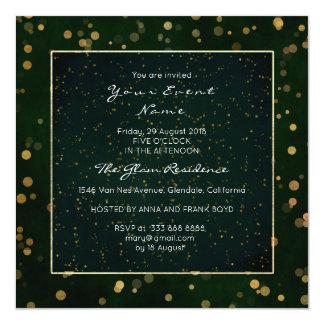 Golden Confetti Woodland Starry Night Cali Green Card