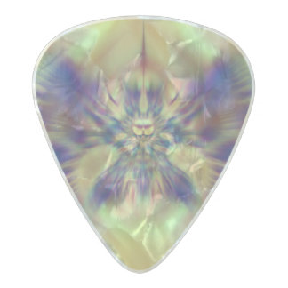 Golden Confusion Fractal Pearl Celluloid Guitar Pick