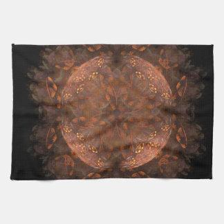 Golden Copper Shimmer Kitchen Towel