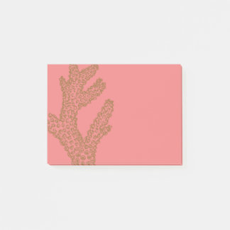 Golden Coral over a Pink Backdrop Post-it Notes