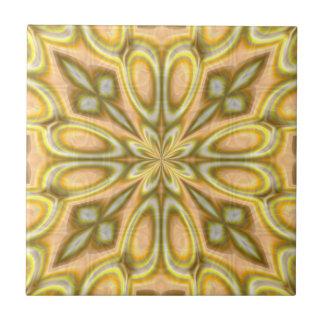 Golden Crazy Daisy Tile