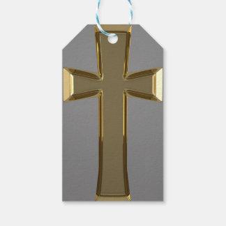 Golden Cross Custom Gift Tags
