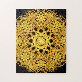 Golden Cross Mandala Puzzle