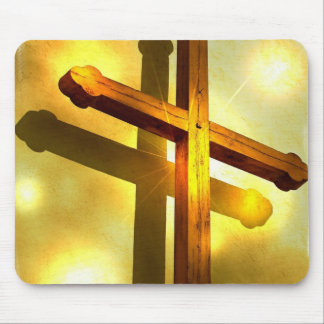 Golden Cross Mouse Pad