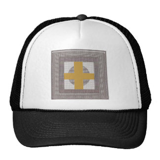 Golden Cross Sparkle White Crystal Beads Gifts Trucker Hat