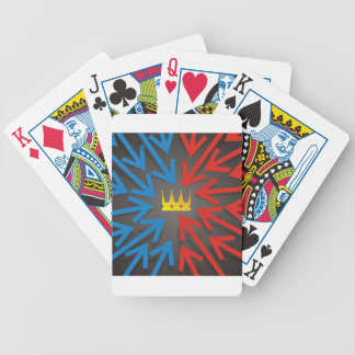 Golden crown bicycle playing cards