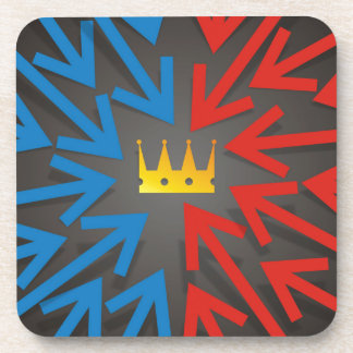 Golden crown coaster