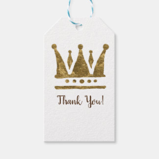 Golden Crown Custom Gift Tags