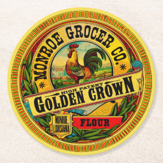 Golden Crown High Patent Flour Round Paper Coaster
