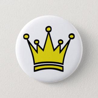 golden crown icon 2 inch round button