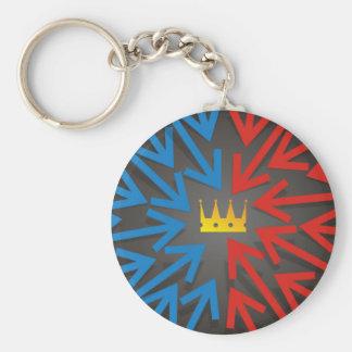 Golden crown keychain