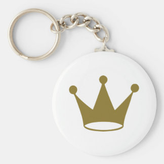 Golden crown keychain