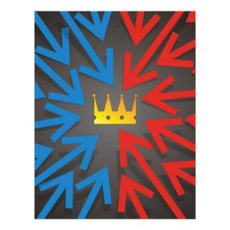 Golden crown letterhead
