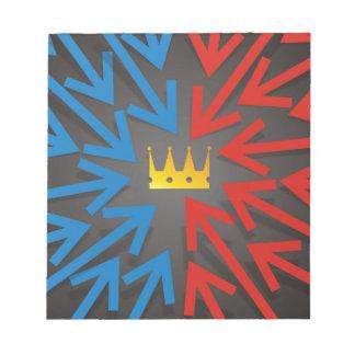 Golden crown notepad