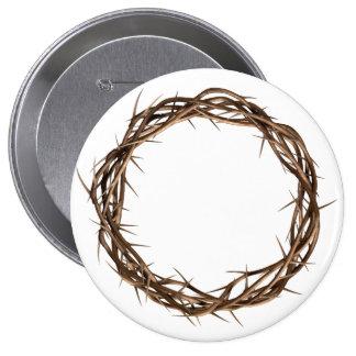 Golden Crown Of Thorns 4 Inch Round Button