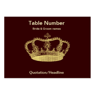 Golden Crown Reception Table Placecard Business Card