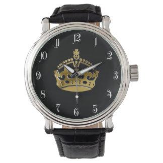 Golden crown watch