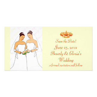 Golden Crown WEDDING Save-the-Date Photo Card