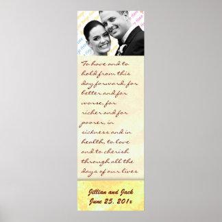 Golden Crown WEDDING Vows Display Poster
